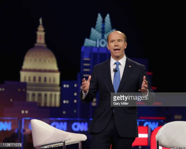 Rep John Delaney speaks during the 'CNN Democratic Town Hall' at ACL Live at The Moody Theater during the 2019 SXSW Conference And Festival on March...