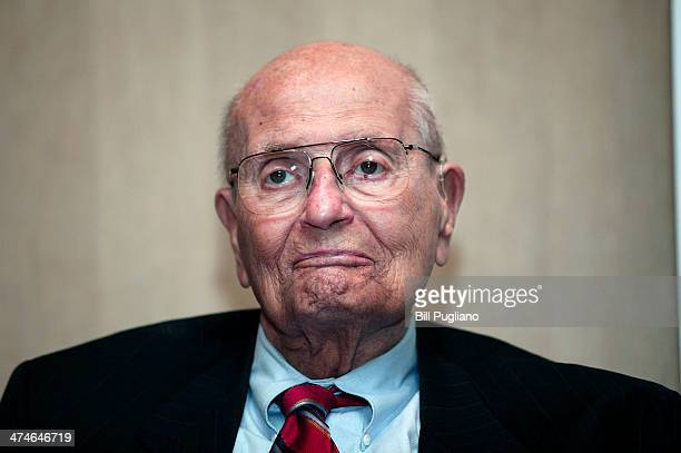 S Rep John Dingell the longest serving member of Congress in US history announces his retirement at a luncheon February 24 2014 in Southgate Michigan...
