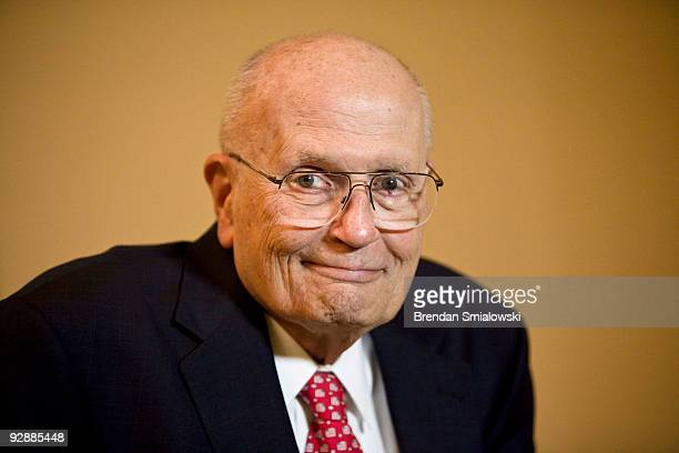 Rep John Dingell waits to be interviewed on Capitol Hill November 7 2009 in Washington DC Members of the House of Representatives continued debate on...