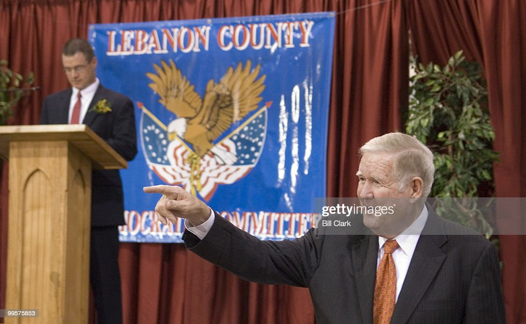 Rep. John Murtha, D-Pa., arrives at the 2006 Jefferson-Jackson Day Dinner at the Lebanon Expo Center in Lebanon, Pa., on Friday, Oct. 13, 2006.