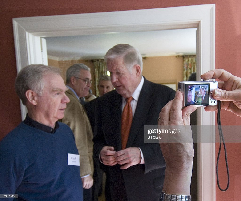 Rep. John Murtha, D-Pa., mingles with guests during a fundraising event fpr Rep. Rush Holt in the home of David and Catherine Loevner in Princeton, N.J., on Friday, Oct. 13, 2006.