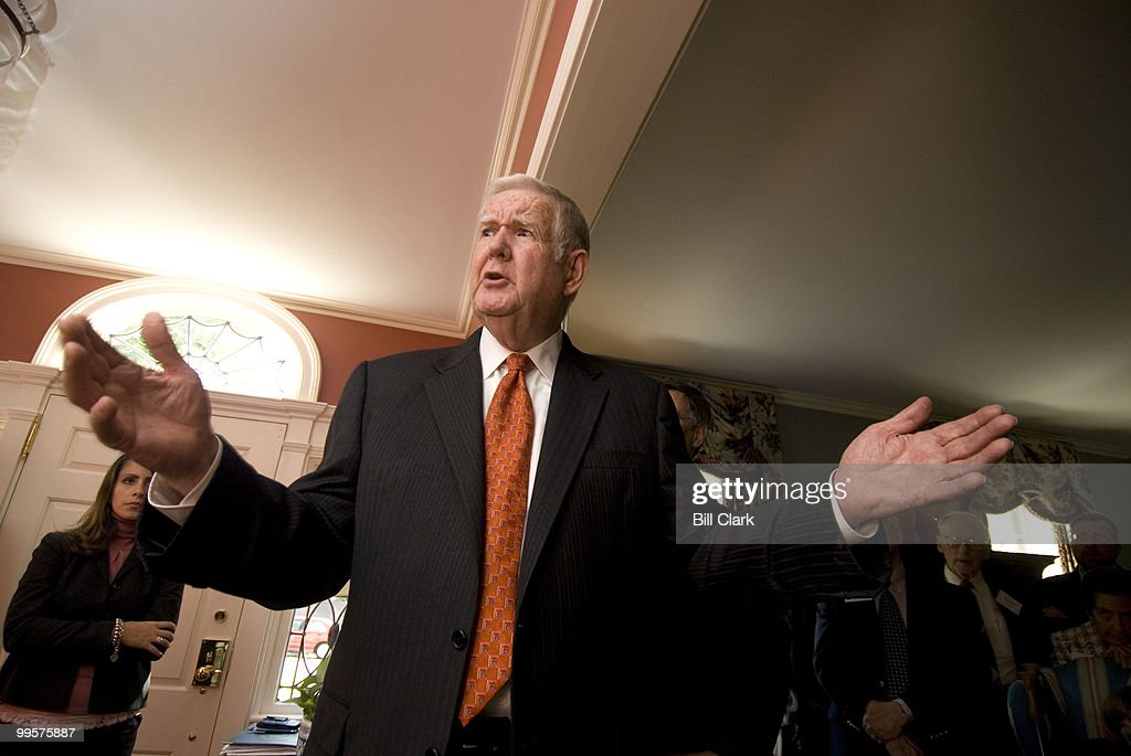 Rep. John Murtha, D-Pa., right, speaks to guests during a fundraising event for Rep. Rush Holt, D-N.J., center, in the home of David and Catherine Loevner in Princeton, N.J., on Friday, Oct. 13, 2006.