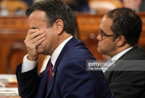 Rep. John Ratcliffe and Rep. Will Hurd arrive as Gordon Sondland, the U.S ambassador to the European Union, prepares to testify before the House...