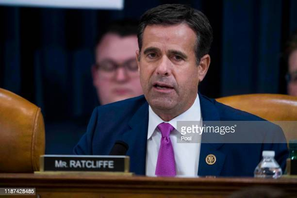 Rep John Ratcliffe questions Intelligence Committee Minority Counsel Stephen Castor and Intelligence Committee Majority Counsel Daniel Goldman during...