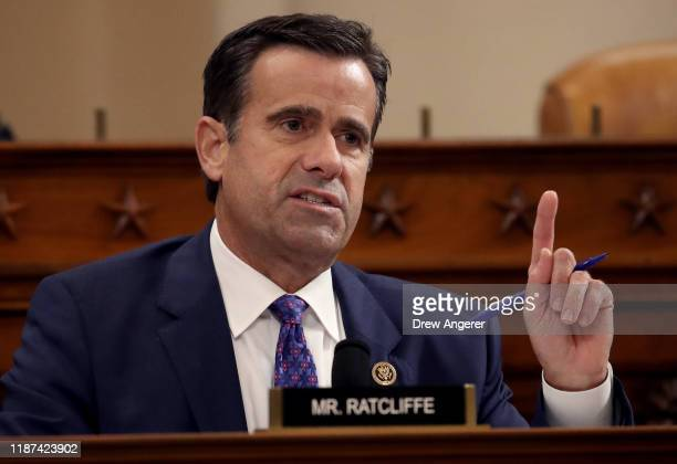 Rep John Ratcliffe questions top US diplomat to Ukraine William B Taylor Jr and Deputy Assistant Secretary for European and Eurasian Affairs George P...