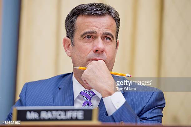 Rep John Ratcliffe RTexas attends a House Judiciary Committee Immigration and Border Security Subcommittee hearing in Rayburn Building titled...