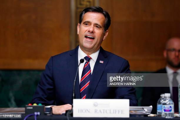 Rep. John Ratcliffe, R-TX, gives an opening statement before a Senate Intelligence Committee nomination hearing on Capitol Hill in Washington,DC on...