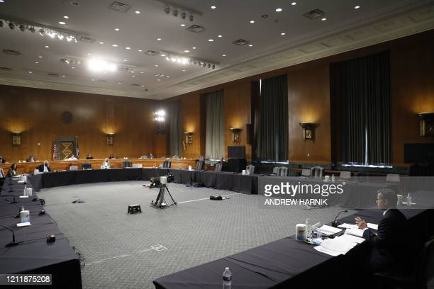 Rep. John Ratcliffe, R-TX, testifies before a Senate Intelligence Committee nomination hearing on Capitol Hill in Washington,DC on May 5, 2020. - The...