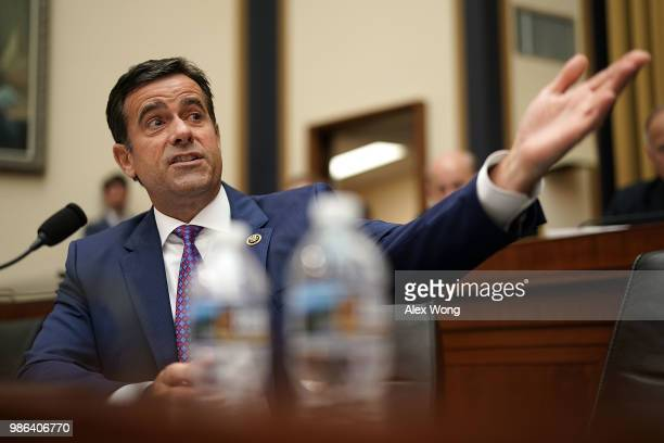S Rep John Ratcliffe speaks during a hearing before the House Judiciary Committee June 28 2018 on Capitol Hill in Washington DC The committee held a...