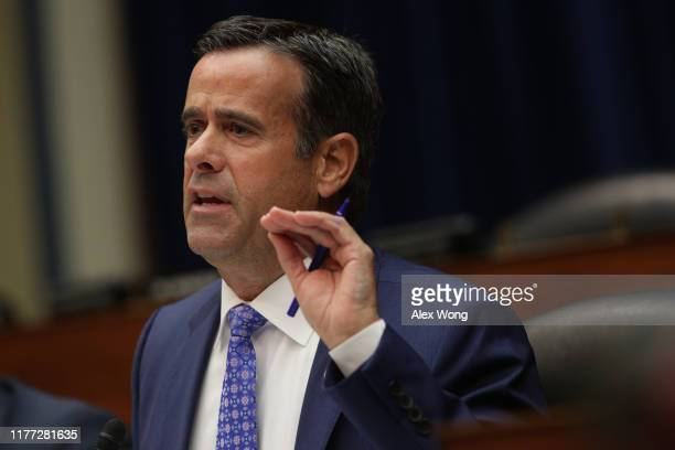 S Rep John Ratcliffe speaks during testimony by Acting Director of National Intelligence Joseph Maguire before the House Select Committee on...