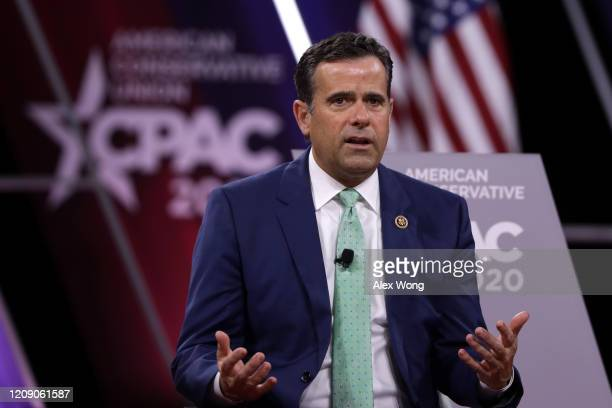 S Rep John Ratcliffe speaks during the annual Conservative Political Action Conference at Gaylord National Resort Convention Center February 27 2020...