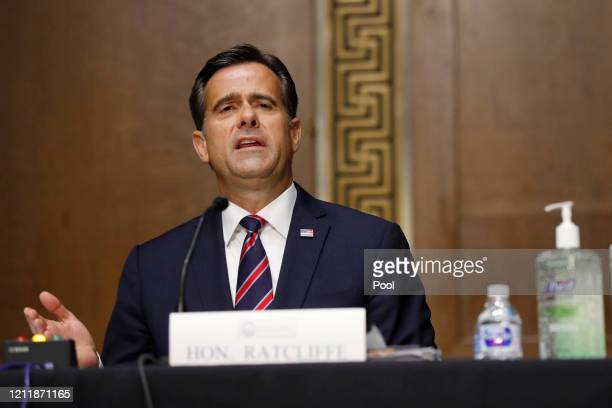 Rep. John Ratcliffe, , testifies before a Senate Intelligence Committee nomination hearing on Capitol Hill in Washington, Tuesday, May. 5, 2020. The...