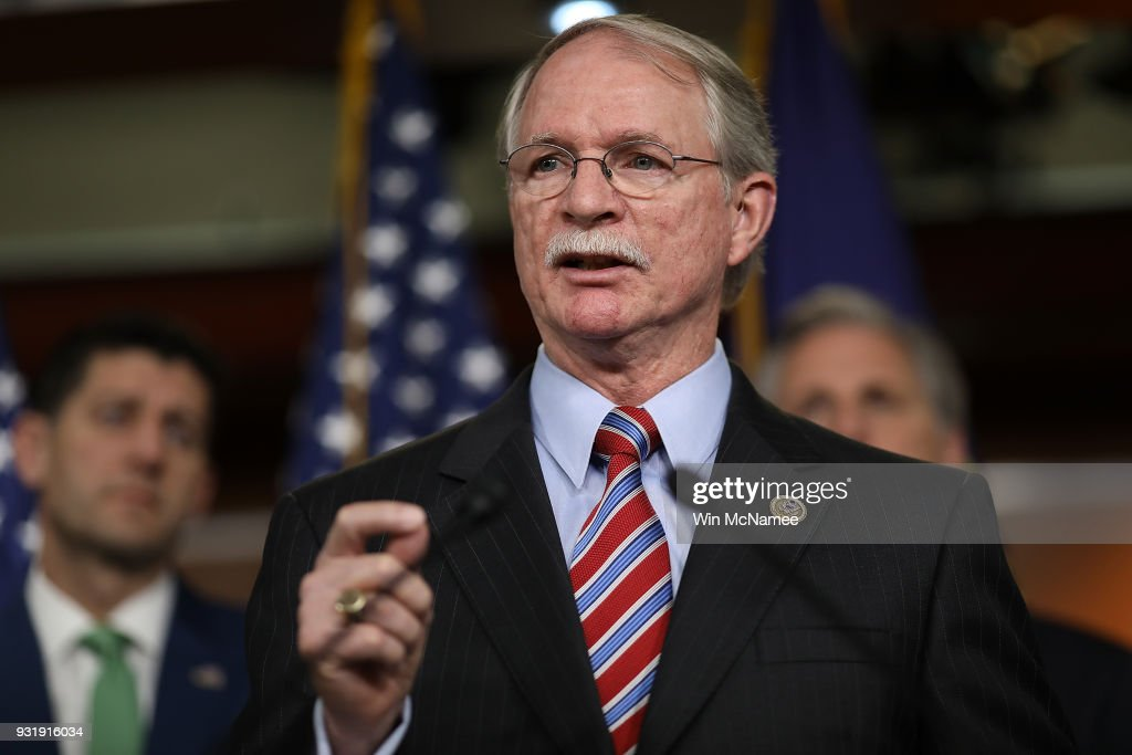Rep. John Rutherford (R) (R-FL), author of the STOP School Violence Act, speaks during a press conference at the U.S. Capitol on March 14, 2018 in Washington, DC. U.S. Speaker of the House Paul Ryan answered questions on congressional efforts to make schools safer, and on the recent special election in Pennsylvania.