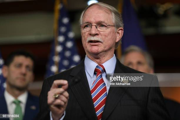 Rep John Rutherford author of the STOP School Violence Act speaks during a press conference at the US Capitol on March 14 2018 in Washington DC US...