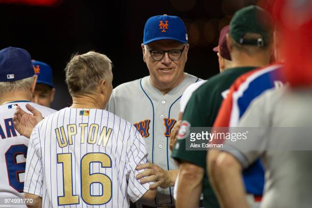 Rep Joseph Crowley shakes hands with Republican players following the Congressional Baseball Game on June 14 2018 in Washington DC This is the 57th...