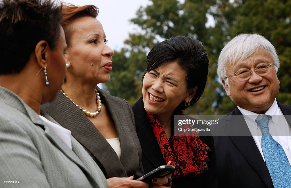 Members Of Congress Rally Against Proposed Amendment For Census-Taking : News Photo