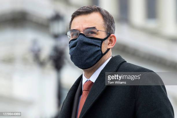 Rep. Justin Amash, I-Mich., is seen on the House steps of the Capitol during votes on Friday, December 4, 2020.