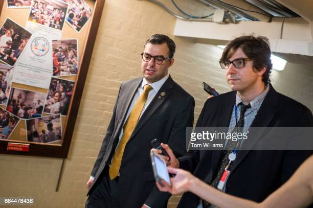 Rep Justin Amash RMich leaves a meeting of the House Republican Conference in the Capitol April 4 2017