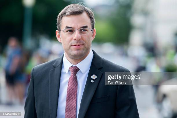 Rep Justin Amash RMich makes his way to the Capitol for the last votes of the week on Thursday May 23 2019