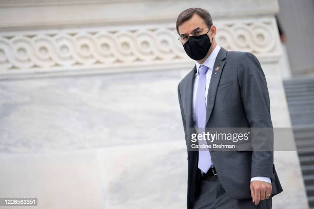 Rep. Justin Amash, R-Mich., walks down the House steps after a vote in the Capitol on Thursday, Sept. 17, 2020.