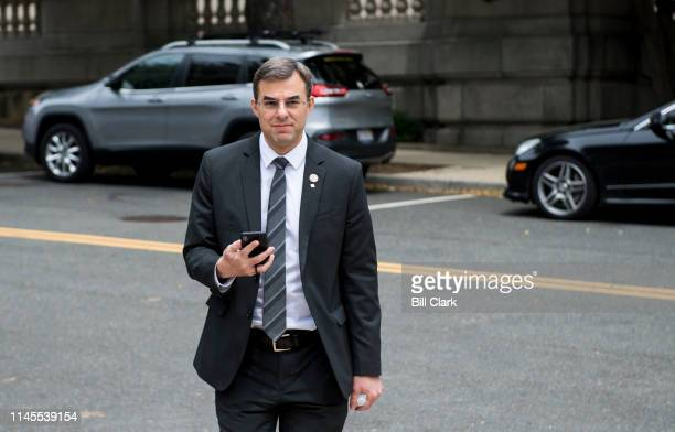 Rep. Justin Amash, R-Mich., walks to the Rayburn House Office building on Wednesday, May 22, 2019.