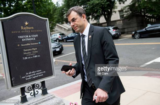 Rep Justin Amash RMich walks to the Rayburn House Office building on Wednesday May 22 2019