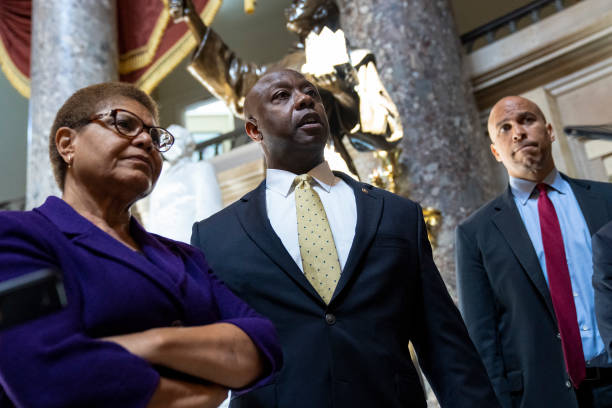 DC: Lawmakers Hold Meeting On Police Reform Bill On Capitol Hill