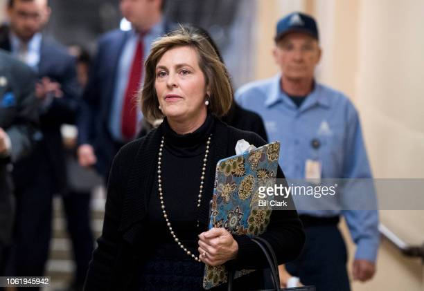 Rep Kathy Castor DFla arrives for the House Democrats' caucus meeting in the Capitol on Thursday Nov 15 2018