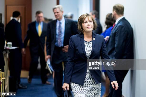 Rep Kathy Castor DFla leaves the House Democrats' caucus meeting in the Capitol on Tuesday June 26 2018