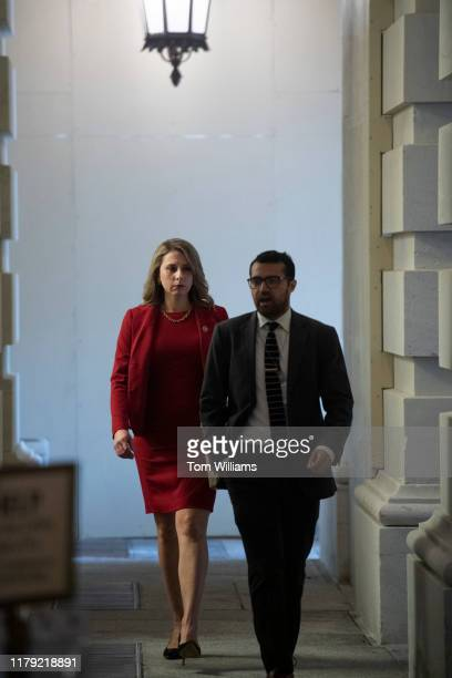 Rep Katie Hill DCalif arrives to the Capitol for the House vote on an impeachment inquiry resolution on Thursday October 31 2019 This was Hills last...
