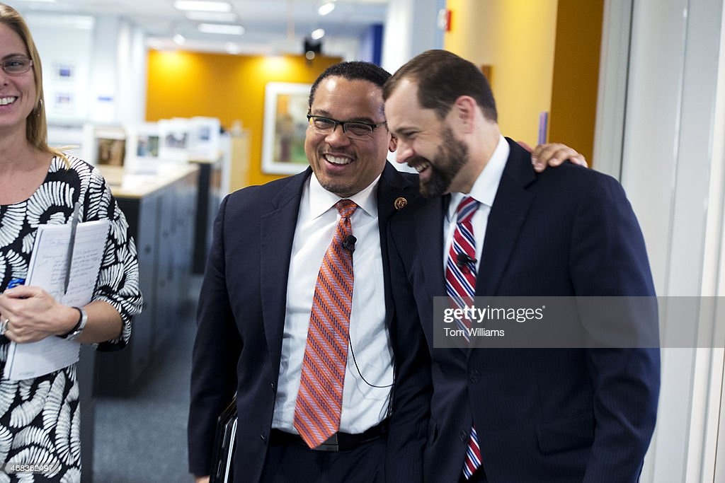 Rep Keith Ellison D Minn Left And Former Rep Tom Perriello