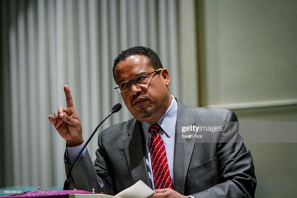 Rep. Keith Ellison Holds Town Hall Meeting At Detroit Church : News Photo