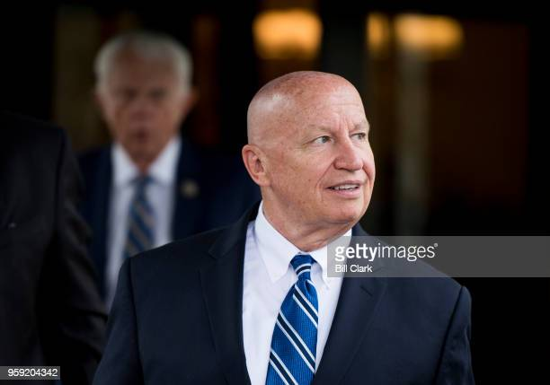 Rep Kevin Brady RTexas leaves the House Republican Conference meeting at the Capitol Hill Club on Wednesday May 16 2018