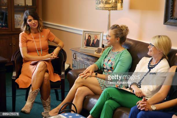 Rep. Kristi Noem meets with doctors and students of the American Optometric Association on Capitol Hill on June 21, 2017 in Washington, DC.