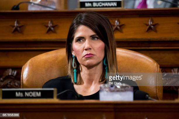 Rep Kristi Noem RS Dak listens during the House Ways and Means Committee hearing on President Trumps budget proposals for fiscal year 2018 on...