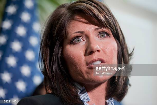 Rep Kristi Noem RSD speaks at a news conference after a meeting of the House Republican Conference in the Capitol Extension of the payroll tax break...