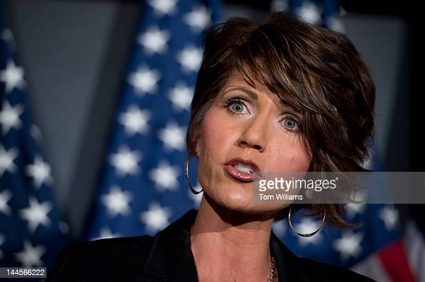 Rep Kristi Noem RSD speaks at news conference at the RNC headquarters where he and other republican members addressed the Violence Against Women Act...