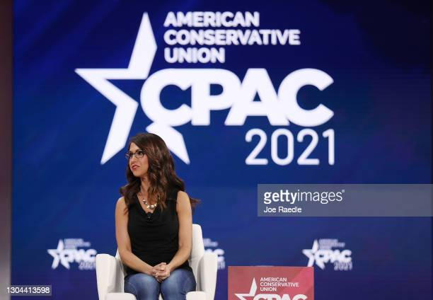 Rep. Lauren Boebert , participates in a discussion on the Right to Bear Arms during the Conservative Political Action Conference held in the Hyatt...