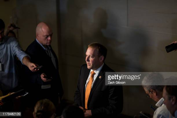 Rep Lee Zeldin speaks to members of the press during a closeddoor deposition of Former Special Envoy to Ukraine Kurt Volker led by the House...