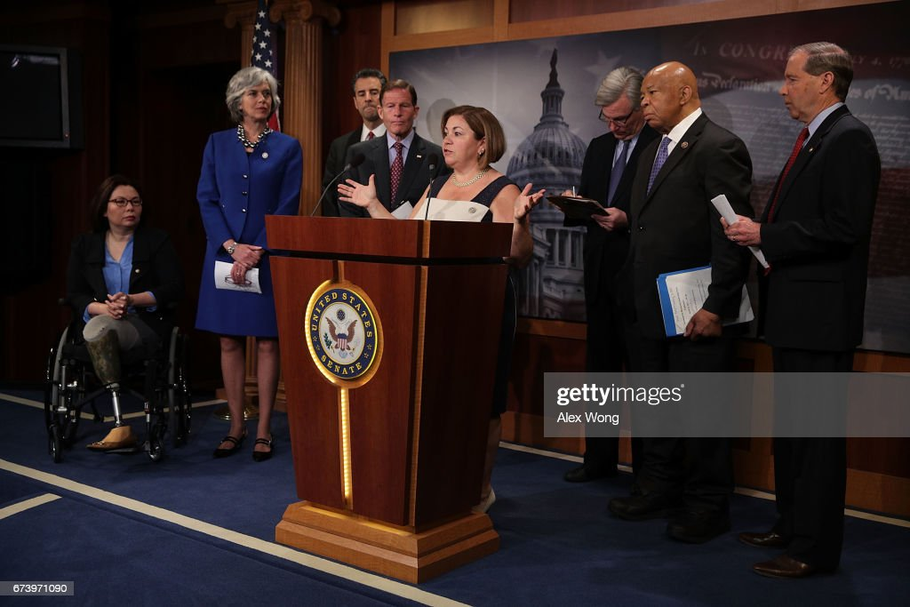 Congressional Democrats Hold News Conference On Trump's First 100 Days