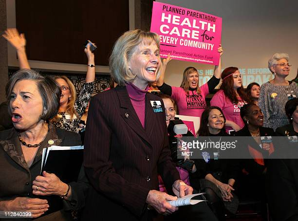 Rep Lois Capps appears at a rally against the Stupak amendment to the health care reform bill December 2 2009 in Washington DC At 71 Capps¼ name has...