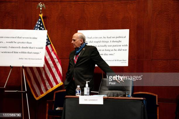 S Rep Louie Gohmert arrives at a hearing of the House Judiciary Committee on June 24 2020 in Washington DC Democrats are highlighting what they say...
