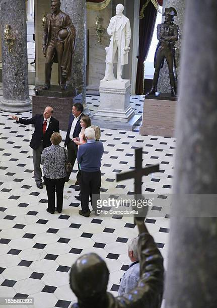 S Rep Louie Gohmert gives a tour of the US Capitol to Mark Randal and Karla Randal and their daughter Bethany Randal of Nacogdoches Texas and Ed and...