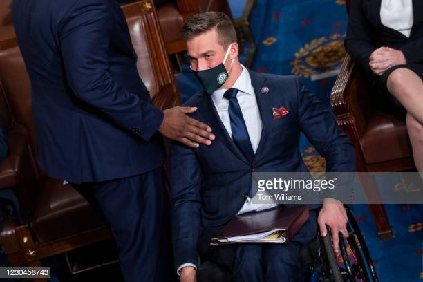 Rep. Madison Cawthorn, R-N.C., attends a joint session of Congress to certify the Electoral College votes of 2020 presidential election in the House...