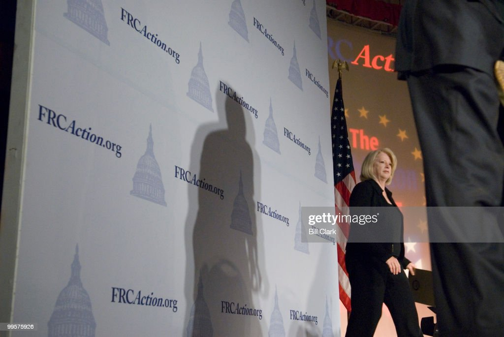 Rep. Marilyn Musgrave, R-Colo., arrives on stage to participate in the 'Preservation of Traditional Marriage' panel during the Family Research Council's 2006 Values Voter Summit in Washington on Sept. 22, 2006.