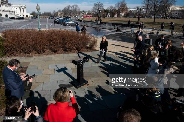 February 5: Rep. Marjorie Taylor Greene, R-Ga., arrives to a news conference in Washington on Friday, Feb. 5, 2021. The House voted 230 to 199 on...