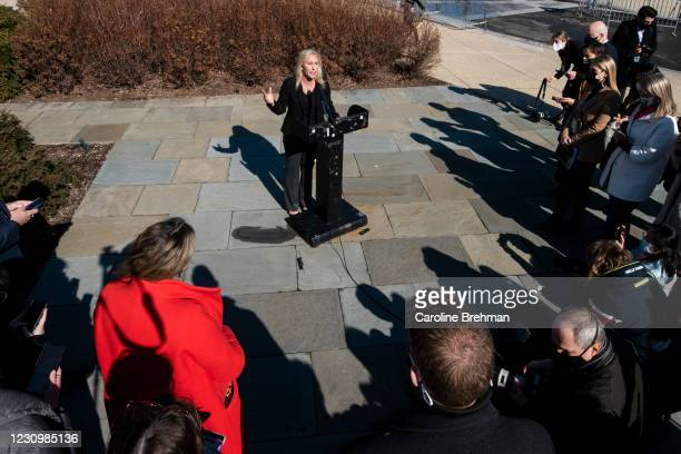 February 5: Rep. Marjorie Taylor Greene, R-Ga., speaks during a news conference in Washington on Friday, Feb. 5, 2021. The House voted 230 to 199 on...
