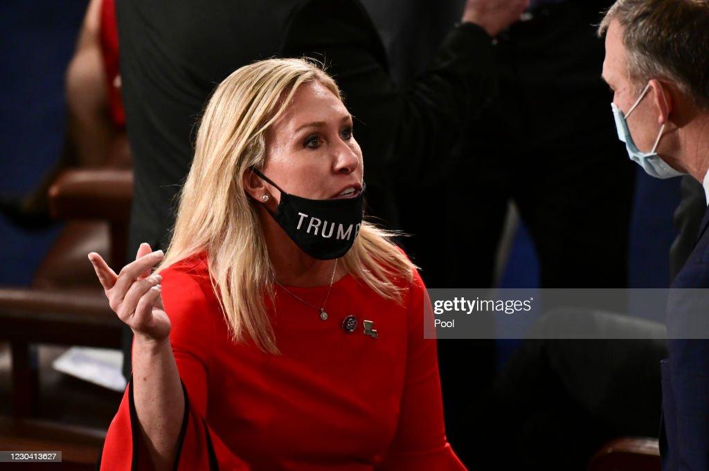 Swearing In Held For U.S. Senators To Start The 117th Congress : News Photo