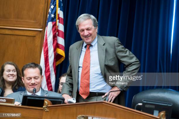 Rep Mark DeSaulnier DCalif right and Michael Cloud RTexas arrive for the House Oversight and Reform Subcommittee on Economic and Consumer Policy...