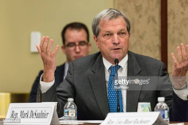 Rep Mark DeSaulnier speaks at a forum to examine evidencebased violence prevention and school safety measures The forum was held on Capitol Hill in...